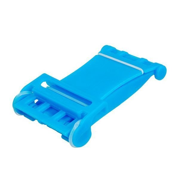 Foldable Hard Plastic Stand Phone Holder for iPhone iPad Samsung (Blue)