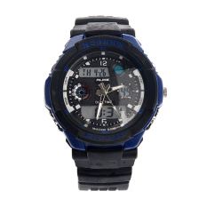 Foorvof Mens Dual-time Display Quartz Outdoor Wrist Watches (Blue)