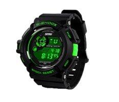 Foorvof SKMEI Digital LED Quartz Climbing Dive Watch Wristwatch (Green)