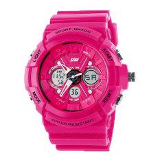 Foorvof SKMEI Outdoor Quartz Digital LED Display Wrist Watch (Hot Pink)