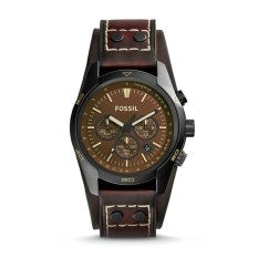 Fossil CH2990 - Jam Tangan Pria Coachman Chronograph Oak Barrel Leather Watch