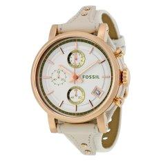Fossil Original Boyfriend Chronograph Silver Dial Ladies Watch, ES 3947