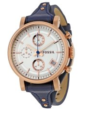 Fossil Women's Original Boyfriend Chronograph Leather Watch ES 3838