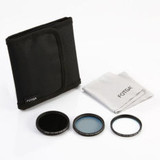 FOTGA 5 In 1 Kit 58mm MC UV And MC CPL And Fader ND Filter And Filter Case And Cleaning Cloth - Intl