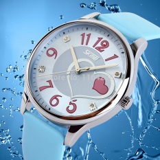 Free Shipping-2016 Fashion Watch Women Synthetic Leather Transparent Dial Lady Wrist Watch Dropshipping - Intl
