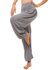 Freebang ZANZEA Women Harem Yoga Pant Belly Dance Comfy Loose Boho Wide Club Trousers (Light Grey)