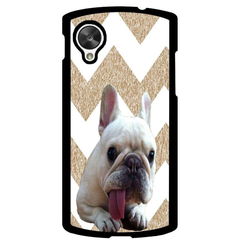 French Bulldog Chevron Pattern Phone Case for LG Nexus 5 (Multicolor)