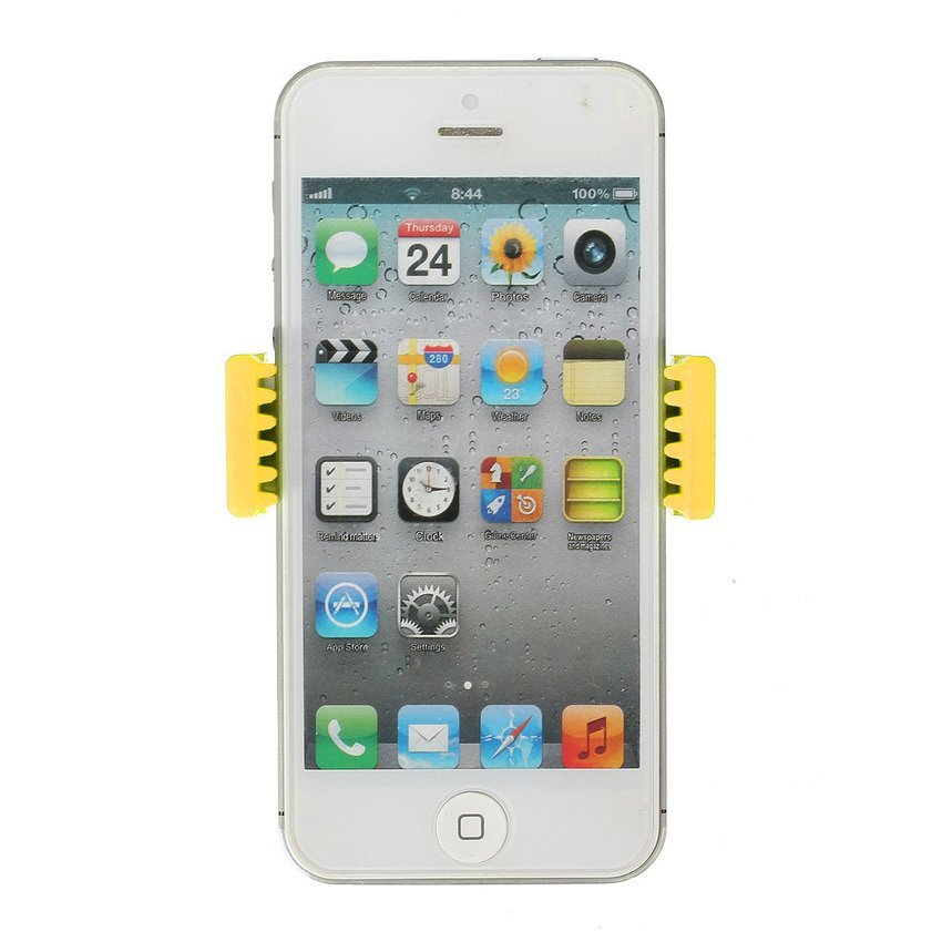 FSH 360��Car Air Vent Mount Cradle Holder Stand for Mobile Smart Cell Phone GPS (Yellow) (Intl)