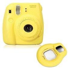 Fujifilm Fuji Instax Mini 8 Instant Photo Film Camera (Yellow) + Close-up Lens - Intl