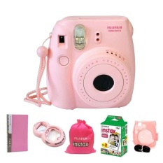 Fujifilm Instax Mini 8 Pink (Instax Mini 8 + Film X2 Box + Album + Close Up + Bag + Colorful Case)