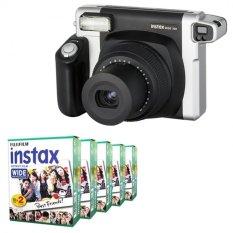 Fujifilm Instax WIDE 300 Instant Camera + WIDE White 100 Film (Black) (Intl)