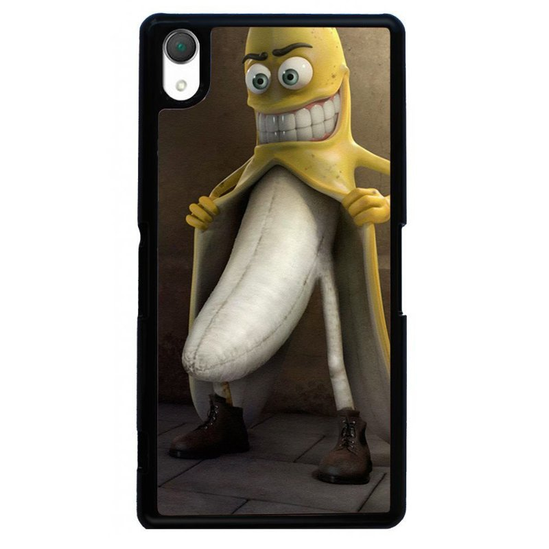 Funny Banana Painting Phone Case for SONY Xperia Z3 (Black)