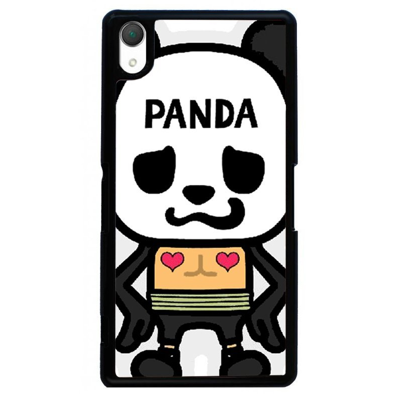 Funny Panda Painting Phone Case for SONY Xperia Z2 (Black)