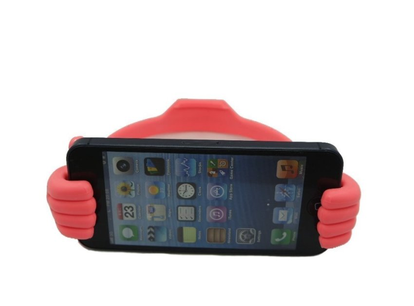 Funny Thumb Phone Stand for Apple/Samsung/HTC (Pink) (Intl)