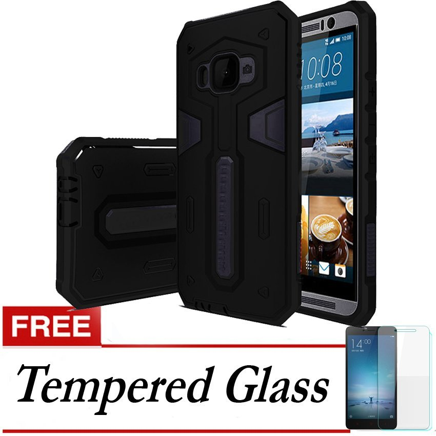 Galaxy X Case Military Protection For Samsung Galaxy J5 + Gratis Tempered Glass - Hitam