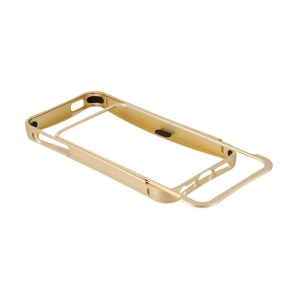 Generic Arc Design Metal Frame for iPhone 5 Gold