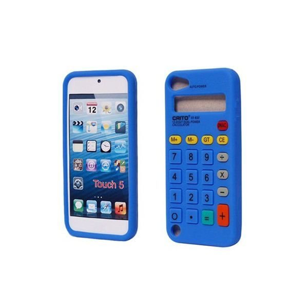 Generic Calculator Pattern Silicone Protective Case for iPod Touch 5 Blue