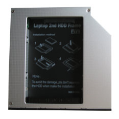 Generic Universal Laptop 2nd Hard Drive Dvd Bay Caddy 9.5mm Ide To Sata For Toshiba New- Intl