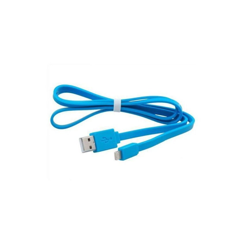 Generic USB Charging Data Cable for iPhone 5 iPad mini iPod touch 5 iPod Nano 7 iPad 4 1.0 m Blue