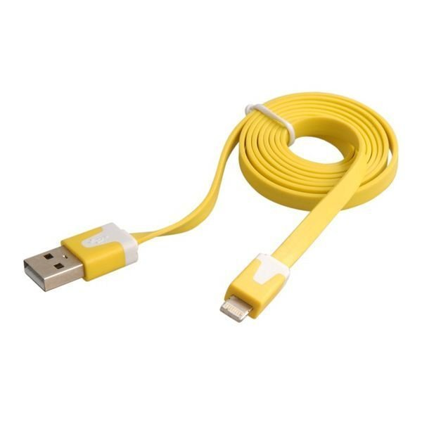 Generic USB Data Charging Cable for iPhone 5 iPod touch 5 iPod Nano 7 iPad mini/4 1.0 m Yellow