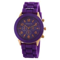 Geneva Cosmo Rubber - Jam Tangan Fashion Wanita - Rubber Strap - GV Cosmo Purple