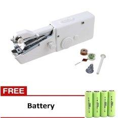 Genius Mesin Jahit Portabel - Putih + Gratis Battery