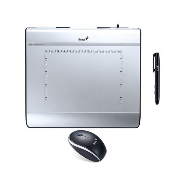"Genius MousePen i608X 6"" x 8"" Pen Tablet with Cordless Mouse/Pen - Puth"