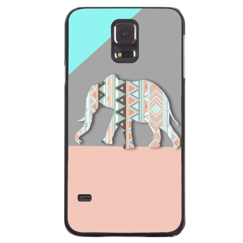 Geometry Thailand Elephant Painting Phone Cover For Samsung Galaxy S5 (Black)