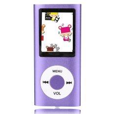 "GETEK 32GB Slim Mp3 Mp4 Player with 1.8"" LCD Screen FM Radio Video (Purple) (Intl)"