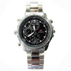 GETEK Waterproof 1280*960 HD 8GB Hidden Spy Camera DV Wrist Watch (Silver) (Intl)