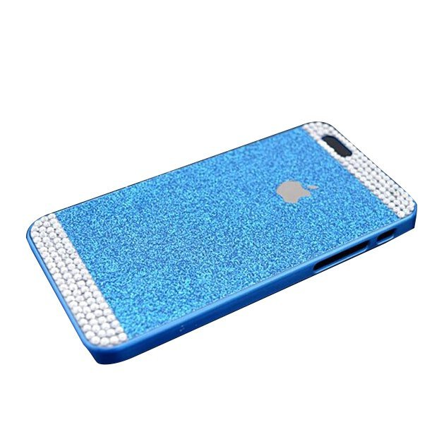 Glitter Powder Rhinestone Bling Phone Case for iPhone 6/6S Blue (Intl)