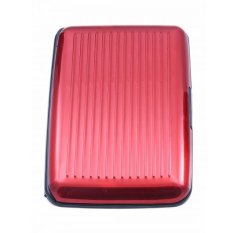 Gokea Card Caddy - Tempat Kartu Aluminium - Merah