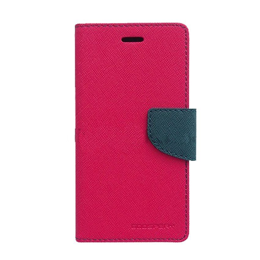 Goospery Mercury Fancy Diary Case for Xiaomi Redmi Note 3 - Hotpink-Navy