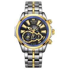 Goplm BUREI Men's Watch Sports Watch Treasure Shuttle Belt Waterproof Stainless Steel Watch Quartz Men's Watch