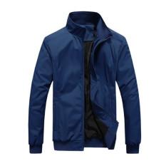 Grandwish Men Lightweight Jackets Sportswear Plus Size M-4XL (Dark Blue)