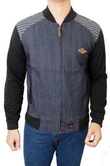 Gudang Fashion Jaket Jeans Pria Terbaru Dongker Kombinasi Lazada Indonesia