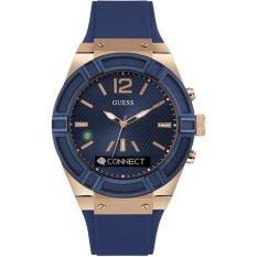 Guess Connect Smart Watch - Jam Tangan Pria - Biru - Strap Rubber - C0001G1