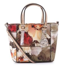 Guess Delaney Petite Tote with Crossbody Strap - Flower Multy