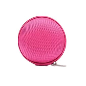 Hang-Qiao Carrying Hard Case Storage Bag Pouch For Headphone Earbud Earphone (Hotpink)