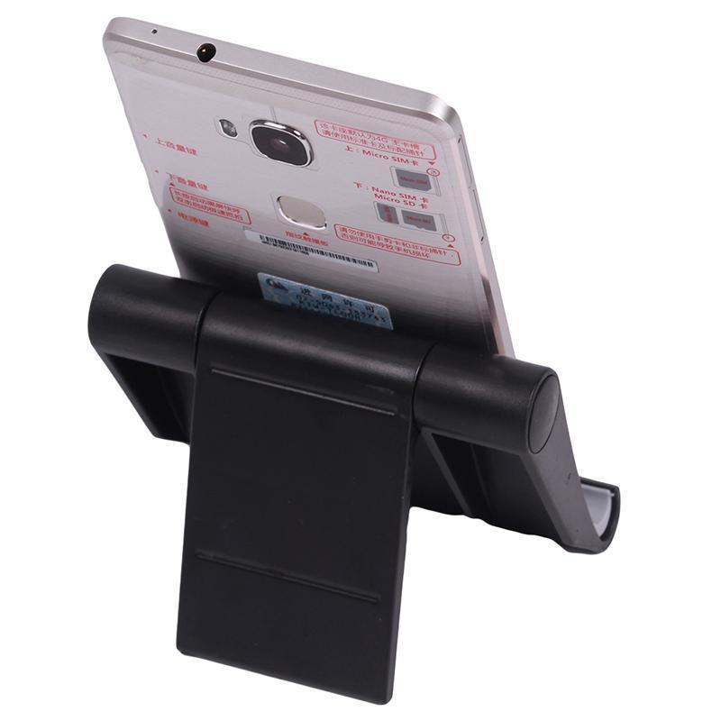 Hang-Qiao Universal Foldable Tablet Mobile Phone Holder Stand Adjustable Mount (Black) (Intl)