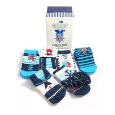 Happy Toes Baby Socks / Kaos Kaki Bayi Sailor Boy 0-12 bln - 6pcs