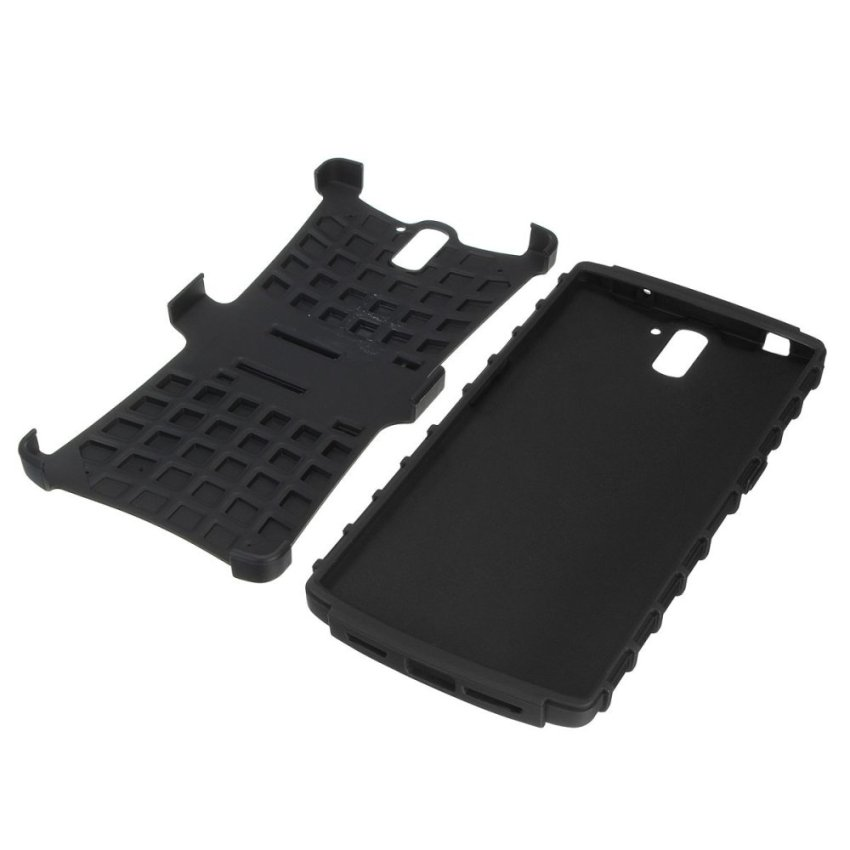 Hard Rugged Armor Case for One Plus CM A0001 (Black) (Intl)