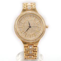 Hazyasm HEMNEZ Genuine Waterproof And Shockproof Steel Wristwatch Diamond Watch Foreign Trade Wholesale Ladies Fashion Quartz Watch (Gold)