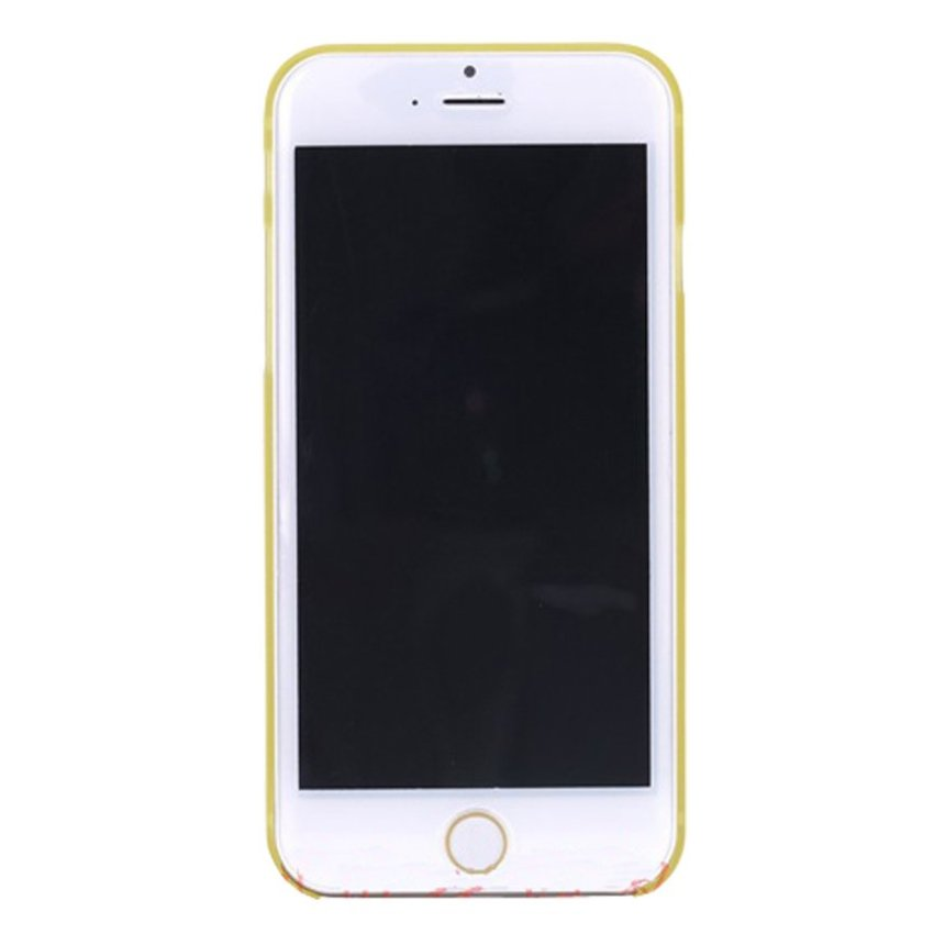HB08 Cases Scrub Protect Shell 0.03 mm Slim Transparent Phone shell for iPhone 6 Plus Yellow