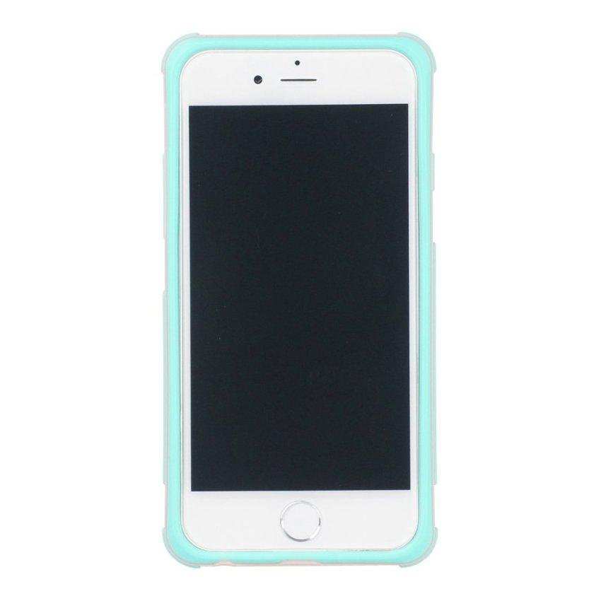 HB13 Cases TPU Double Color Border Cell phone Hit color Frame Phone shell Protective sleeve for iPhone 6 Green