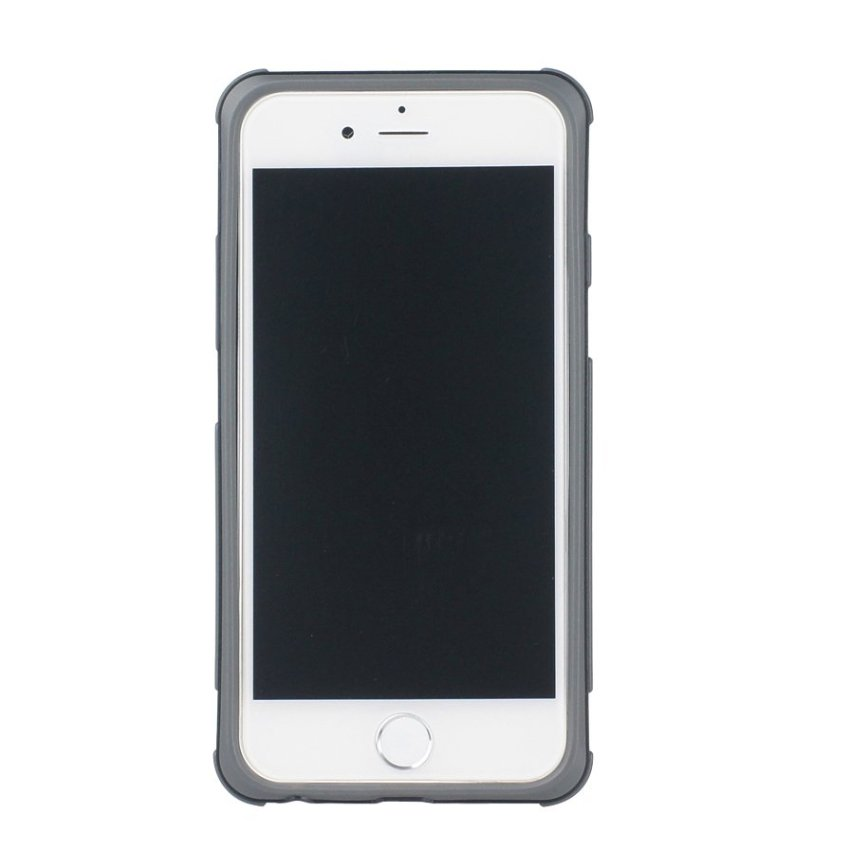 HB13 Cases TPU Double Color Border Cell phone Hit color Frame Phone shell Protective sleeve for iPhone 6 Plus White