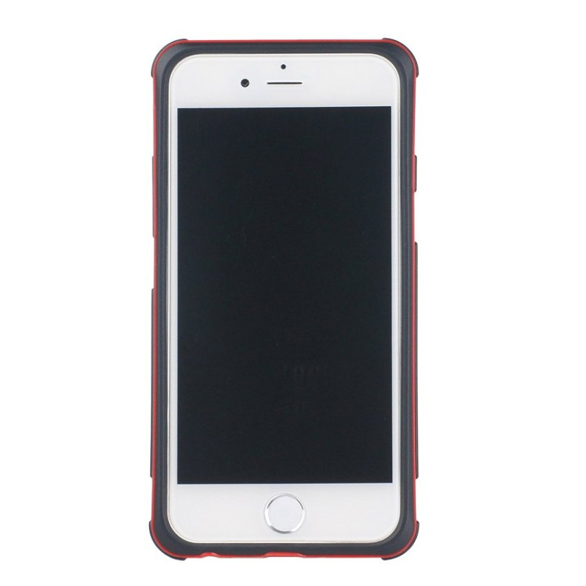 HB13 Cases TPU Double Color Border Cell phone Hit color Frame Phone shell Protective sleeve for iPhone 6 Red