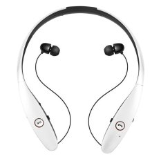HBS900 Wireless Bluetooth 4.0 Sport Stereo Neckband Style With MIC Bass Headphone For IPhone And Android White - Intl