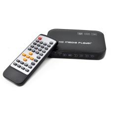 HD Media Player Portable 3D Full-HD 1080p HDMI VGA CVBS SD USB - Hitam