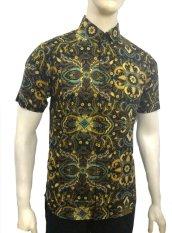 Herman Batik A7697 Baju Kemeja Batik Pria Slimfit Fashion Jeans Muslim Koko